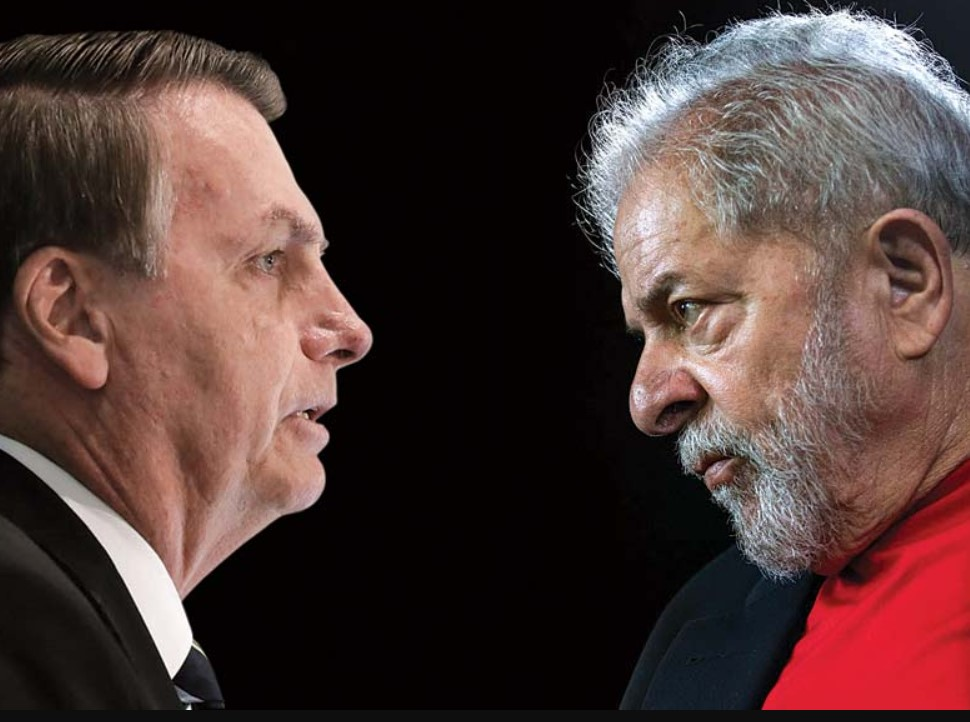 Foto de Lula e Bolsonaro